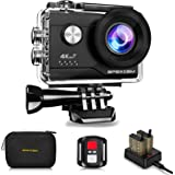 Apexcam 4K WiFi Action Cam 20MP Ultra HD Action Camera Impermeabile Sott'acqua 40M 2'' Sports Cam 2.4G Telecomando 170° Grand