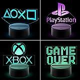CHANONE Playstation Lampe mit Farbwechsel Funktion 16 Farben LED-Tisch-Schreibtisch-Lampen USB-Lade, die Schlafzimmer-Dekorat