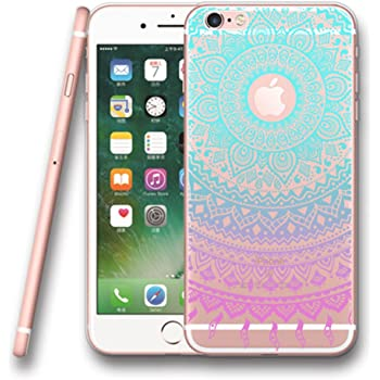 IPhone SE 5 5S Case Clear UCMDA Ultra Slim Soft TPU Silicone Back Rubber Bumper Protector Cover For Blue Purple Tribal Mandala