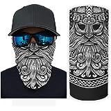 Bikofhd Viking Design Magische Runenhalsmanschette W/ärmer Unisex Winddichtes freies UV-Gesicht f/ür kaltes Wetter