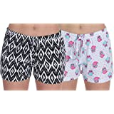 Romano Women Regular Shorts (Pack of 2)