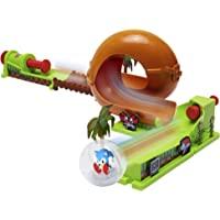 Jakks Pacific 400652 Spielset mit exklusivem Sonic in Einer Kugel, Loopingbahn/Flipperbahn mit Stoßstange, Green Hill…