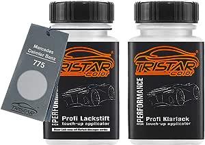 Tristarcolor Autolack Lackstift Set Für Mercedes Daimler Benz 775 Iridiumsilber Perl Metallic Basislack Klarlack Je 50ml Auto