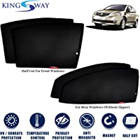 Kingsway Kkmmsshf00018 Half Magnetic Sun Shades/Curtains for Maruti Suzuki Sx4 (Black, Pack of 4)