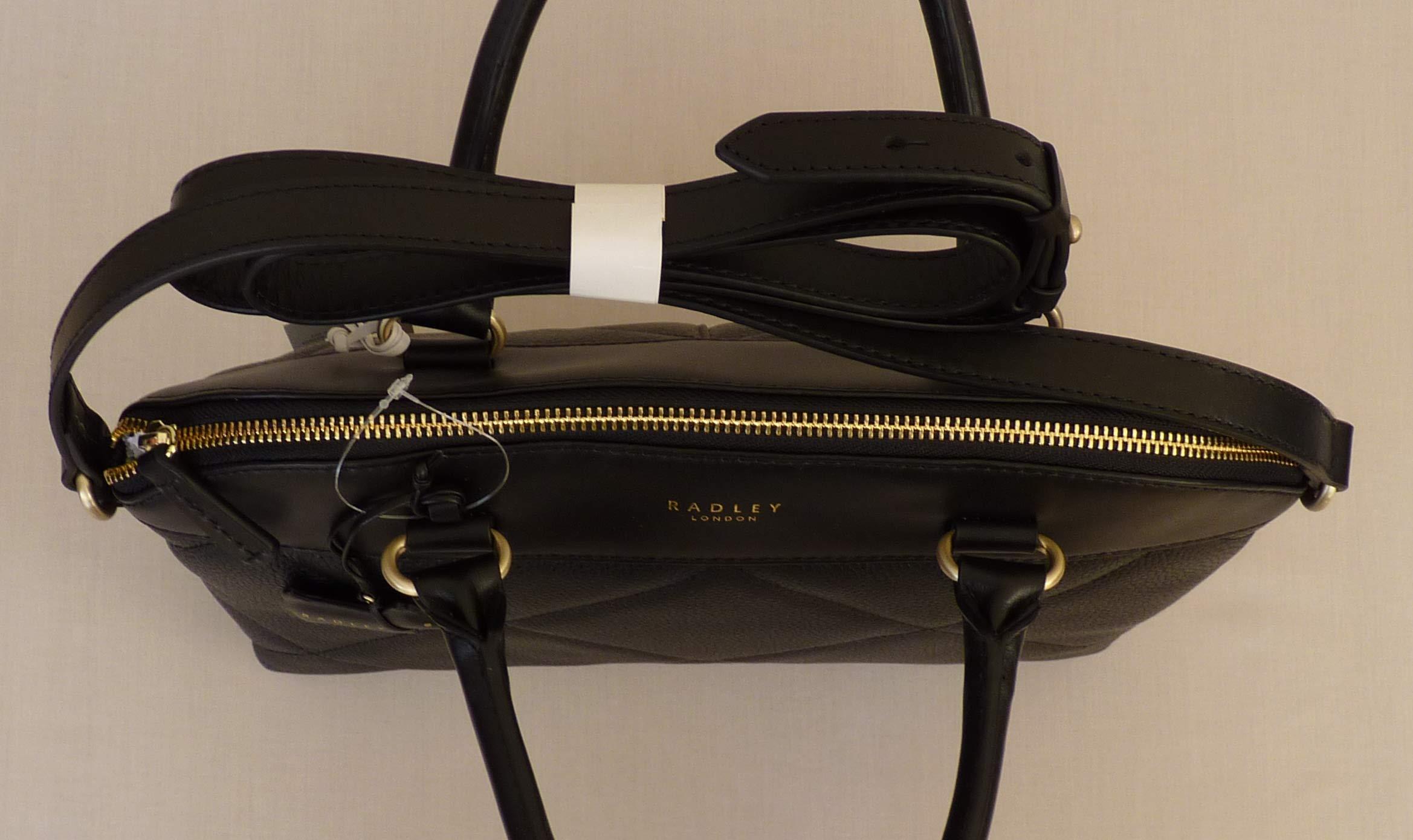 d7d1205f4f RADLEY 'Fenchurch Street' Medium Black Leather Multiway Bag – NEW ...