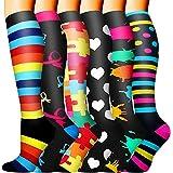Sooverki Calcetines de compresión para Mujeres y Hombres 20-25 mmHg es el Mejor Graduado atlético, Correr, Volar, Viajar, Enf