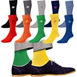10 Pack Mens Cotton Rich Bright Colour Designer Socks Shoe Size 7-11