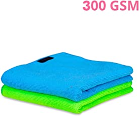 AllExtreme Lint & Streak Free Microfiber Cleaning Towels Dust Cloth for Automobile & Furniture Cleaning (Random Color, 2 Pcs)