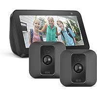 Blink XT2 System mit 2 Kameras + Echo Show 5, Schwarz, funktioniert mit Alexa