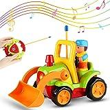 Sirecal Coches Teledirigidos para Niños Pequeños con Música y Luz Juguetes de Racer Coche de Carreras Control Remoto Regalo d