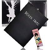 JPYZ Anime Death Notebook Nieuwe Death Note Cosplay notitieboek en veer, PU-leer, kan met reisdagboek worden gevuld, een cade