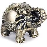 IWILCS Cendrier Vintage avec Couvercle, Cendrier en métal éléphant Vintage pour intérieur et extérieur, décoration rétro pour