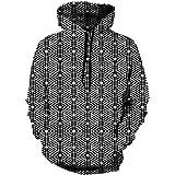 ASADVE Geometric Pattern Sweater Men 3D Digital Printing Men's Hooded Sweater
