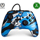 PowerA Enhanced Wired Controller for Xbox - Metallic Blue Camo, Gamepad, Wired Video Game Controller, Gaming Controller, Xbox
