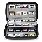Sisma Etui de rangement universel pour 64 cartouches de jeux Nintendo 3DS DS Switch Sony Ps Vita et Cartes mémoire - noir...