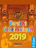 Vorsicht Geheimwissen 255419 2019: Tages-Abreisskalender für Kinder voller Wissen, Ideen und Spiele I Aufstellbar I 12 x 16 cm
