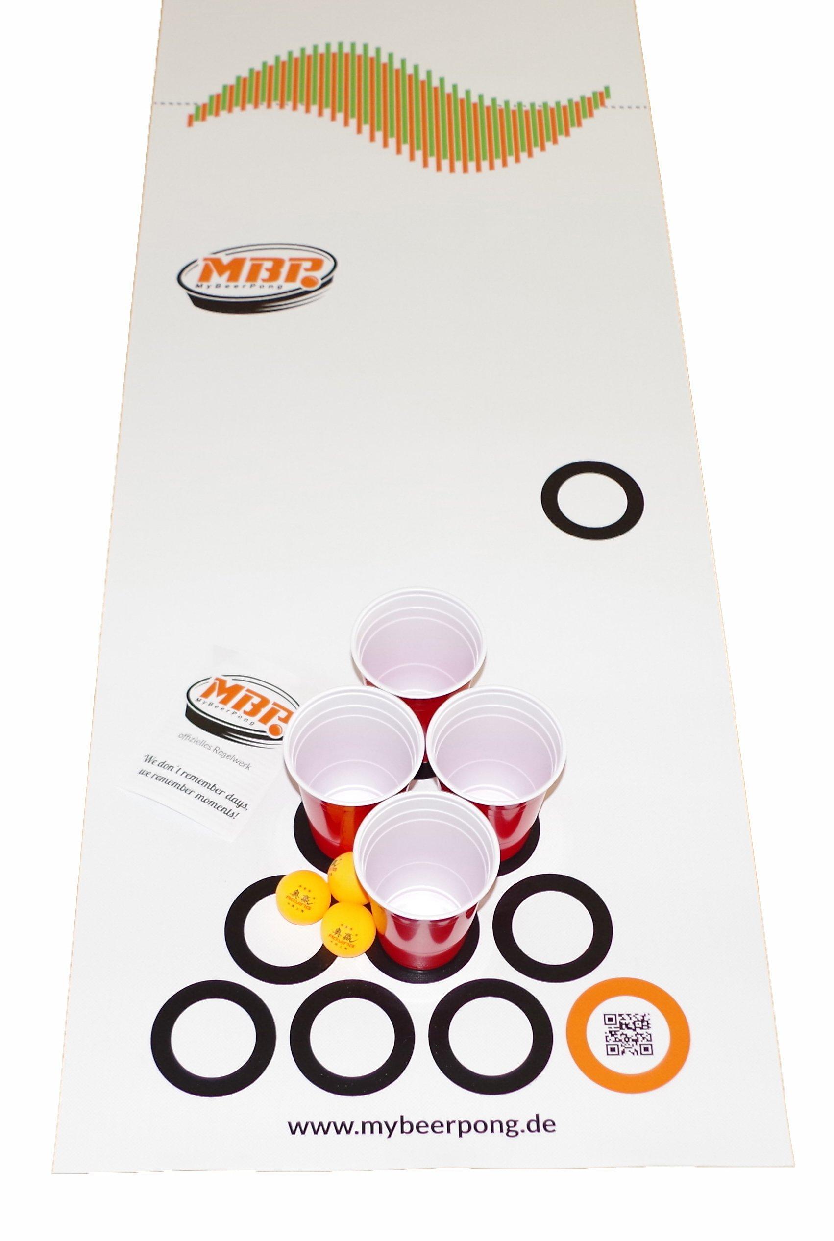 Beer-Pong-Set-Bierbank-220-x-50-cm-passt-auf-alle-Bierzeltgarnituren-inkl-Spielfeld-25-Red-Solo-Cups-4-Beerpong-Blle-mehr-die-Alternative-zum-Beer-Pong-Tisch