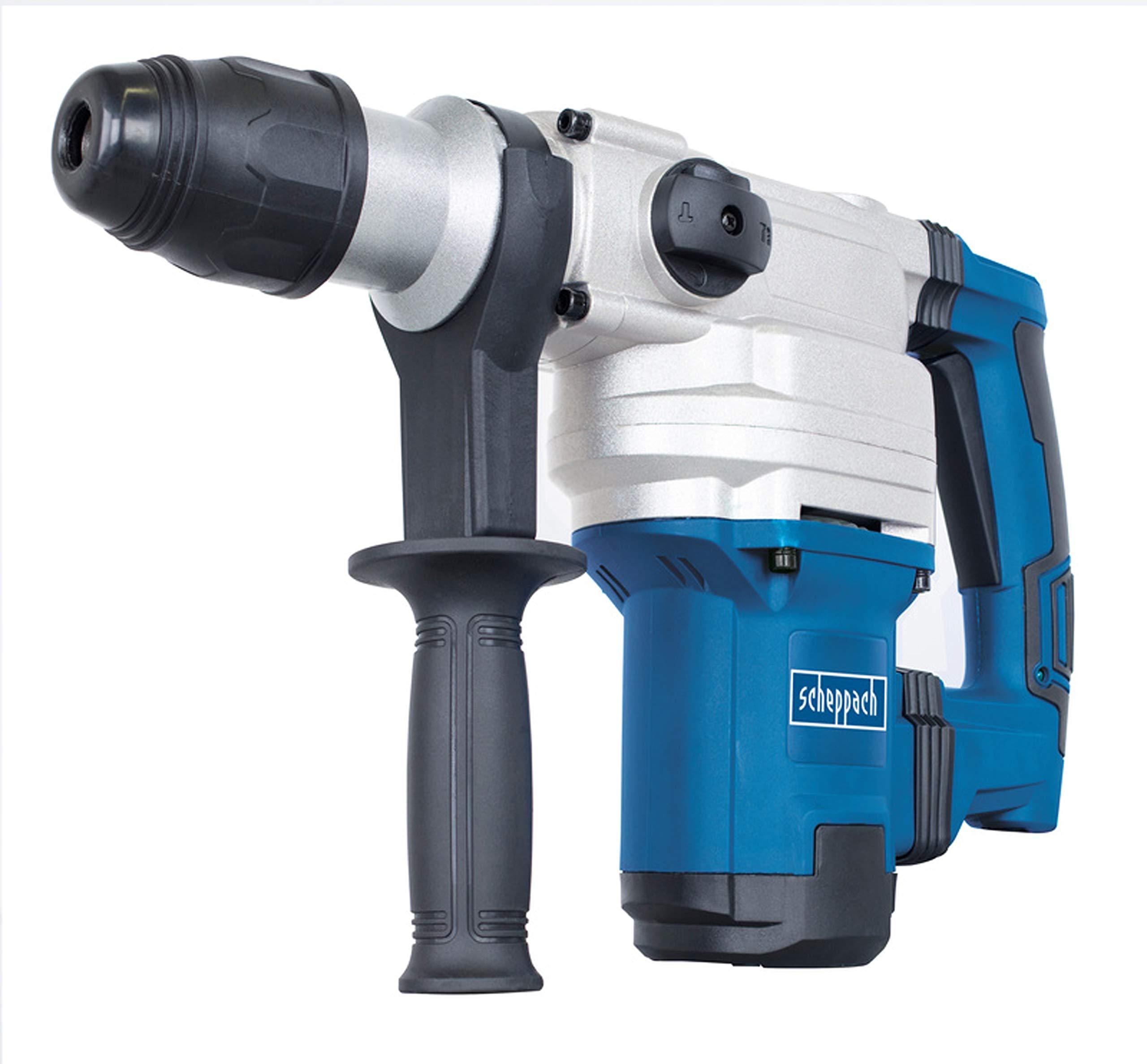 Scheppach Bohrhammer DH1200Max (Schlaghammer mit 1050 W, 9 Joule, SDS max Aufnahme, Drehzahl 480 min-1, Bohrleistung im…