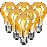 LED Vintage Edison gloeilamp, Edison E27 schroef lamp 4W (40W equivalent), Retro antieke stijl LED-lampen schroef in, 470LM,