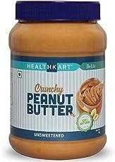HealthKart Peanut Butter Unsweetened, Crunchy, 1Kg