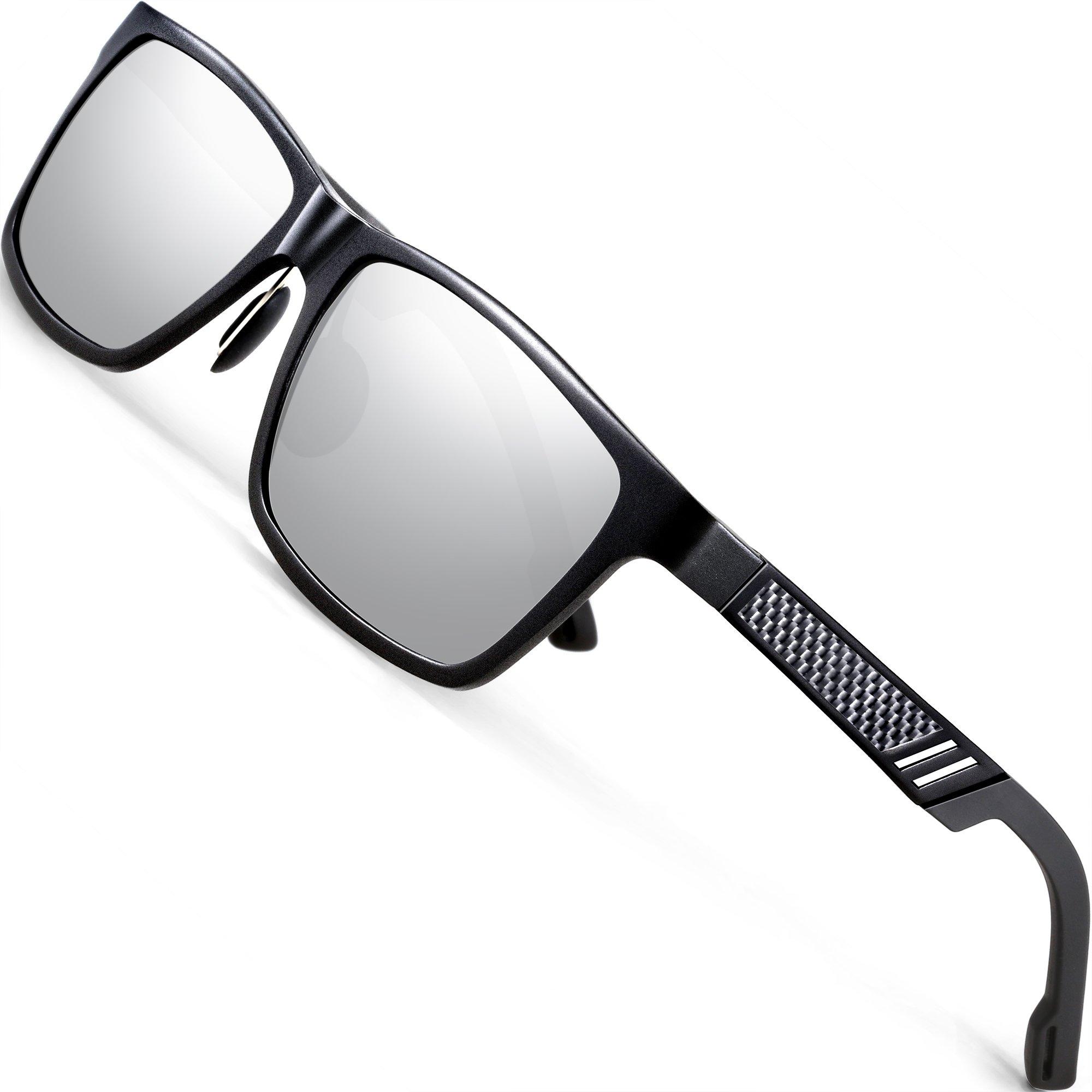 AFARER sonnenbrille herren polarisiert fahren Al-Mg métal rahme Schwarz TjH6U46HnK