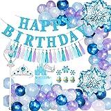 Decoración de Cumpleaños para Niña, SPECOOLGlobo Fiesta Banner de Globos de Feliz Cumpleaños Globo Decoración con Princesa Ti