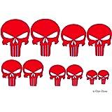 Schädel Aufkleber 10 Totenkopf Sticker Skull Mtb Fully Mx Motorrad Buggy Quad Zubehör Autoaufkleber Auto
