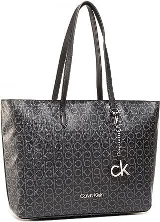 Calvin Klein Shopper Tasche 48,5 cm , Einheitsgröße , Black Mono Mix