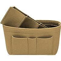 Meg-Grow Women Felt Purse Organizer Insert for Handbag Tote Hobo Bag Storage Purse Divider-Beige (Beige)
