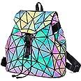 Geometrica Zaino Donna Zainetto Ragazza Elegante Zaini Olografica Zaino Moda Borse a mano Backpack Daypack per Scuola Viaggio