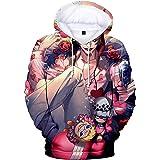 Haosheng Uomo 3D Stampato One Piece Felpe Luffy Sweatshirt Anime Giapponesi Fans Top Unisex Hoodie