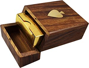 Kartique Combo Deal Of Golden Playing Cards & Hand Made Wooden Box