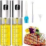 TWBEST Oljespruta, oljesprayflaska, 2 oljesprayflaska, vinägerstänk oljedispenser, transparent oljesprej, oljeutlösare glasfl