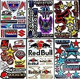 6 bogen Aufkleber Zru selbstklebend Stickers rockstar energy drink BMX moto-cross decals Abziehbilder MX