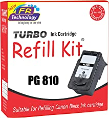 Turbo Ink Cartridge Refill Kit For Canon 810 Black Ink Cartridge