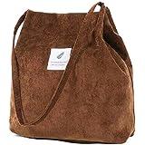 ZhengYue Damen Handtasche Groß Canvas Tasche Damen Cord Umhängetasche Henkeltasche Shopper Damen für Uni Arbeit Mädchen Schul