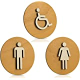 WC-schild hout toiletschild toilet deurschild dames heren hangers pictogram kleur notenhout licht