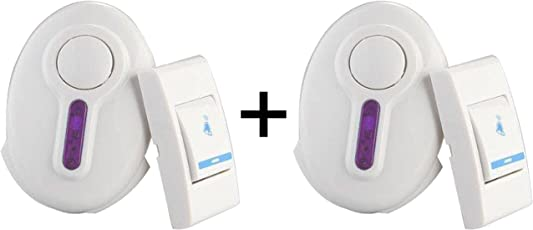 Wireless Door Bell for Home Shop Office (Assorted Colors and Designs) Pack of 2