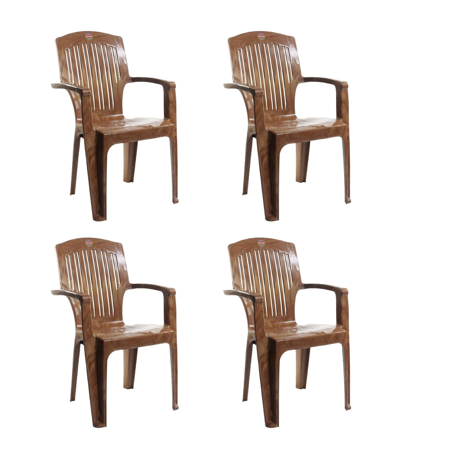 Cello rade Set of 4 Chairs Sandalwood Brown Amazon Home