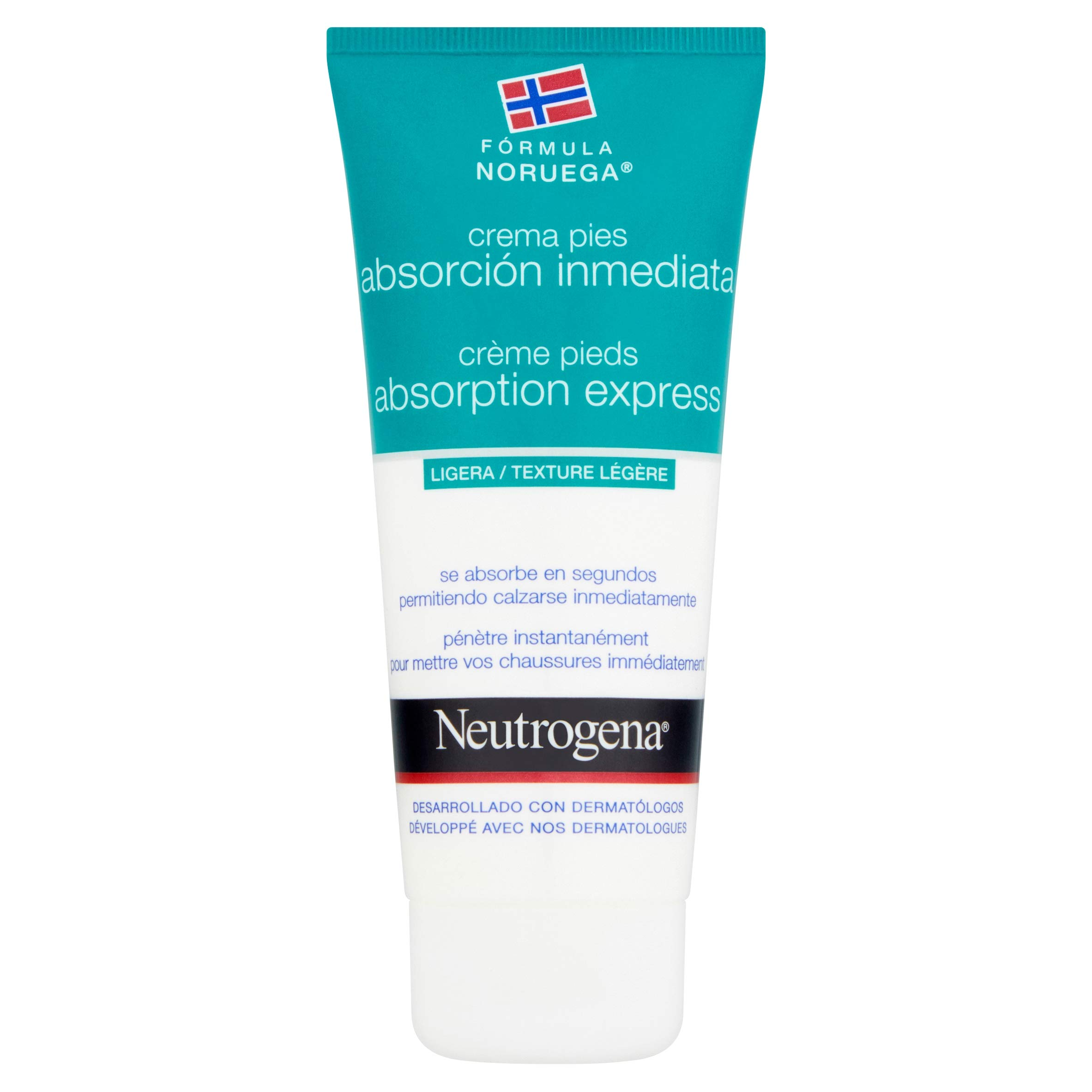 Neutrogena Crema de Pies Absorción Inmediata, Pieles Secas, 100 ml