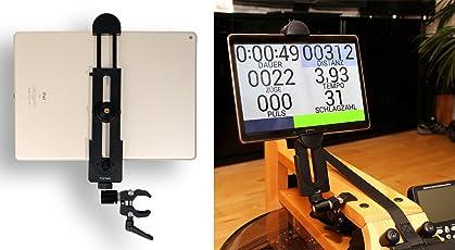 """Photecs Tablet-Halterung Pro V2, für iPad Pro und Andere Tablet-PC´s Oder Smartphones (ab 5"""" bis 14 Zoll) an Rudergerät, Heimtrainer, Ergometer Etc."""