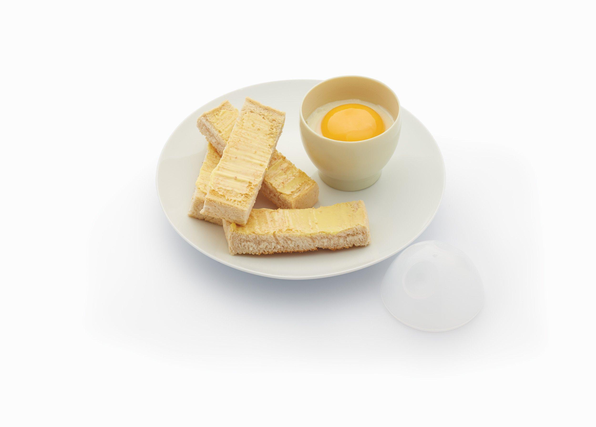 71DDDCLlBXL - Kitchen Craft Microwave Egg Boiler Set, 2 Pieces