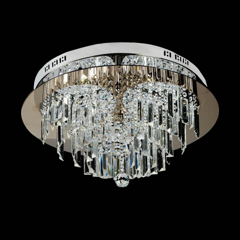 Saint Mossi Modern K9 Crystal Raindrop Chandelier Lighting Flush Mount Led Ceili
