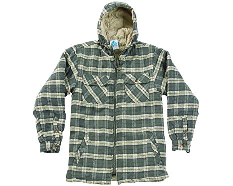 Men Sherpa Lined Padded Thick Lumber Jack Warm