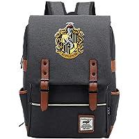 Harry P School Bags Backpack,Hufflepuff Badger Hogwarts College Casual Rucksack Fashion Travel Bag Boy Girl Children…