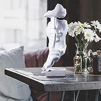 KONFA Le Silence est Une Sculpture Abstraite penseur de Statue d'or, Un décor Maison en résine Moderne, adapté au Salon…