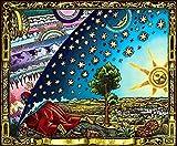 """Flammarion impression sur toile A2 23.4"""" x 16.5"""" (impression de la terre plate)"""