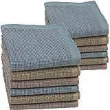 HOULIFE - Fazzoletti da uomo in puro cotone pettinato, 43 x 43 cm, 3 colori per uso quotidiano, 6/12 pezzi