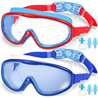 EasYoung 2-Pack Kids Swim Goggles, Swimming Goggles for Children and Early Teens from 3 to 15 Years Old, Wide Vision…