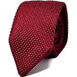 Oxford Collection Cravatta da uomo Rosso a Maglia - 100% Seta - Classica, Elegante e Moderna - (ideale per un regalo, un matr